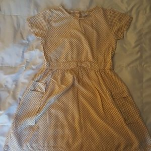 Carters dress w/small white flowers and blk center